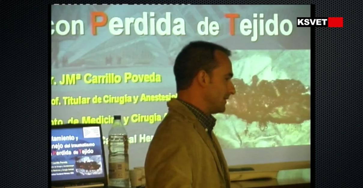 Conferencia tratamiento y manejo del traumatismo con perdida de tejido por Chema Carrillo